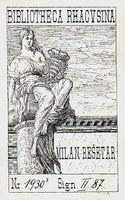 The ex libris of M. Rešetar